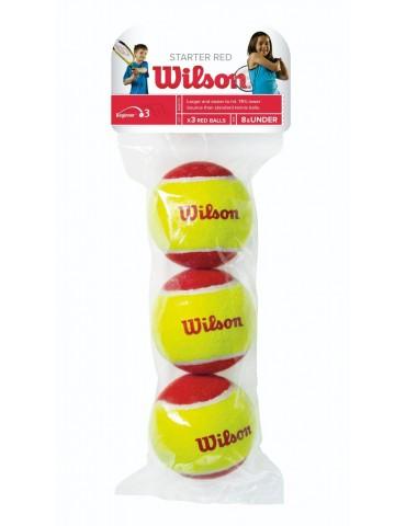 كور تنس Wilson Starter Red 3 ball pack