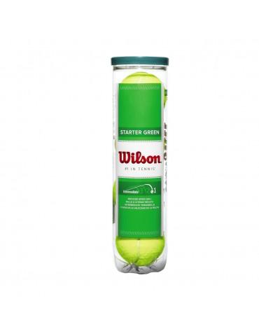 كور تنس Wilson Starter Play Green - 4 Ball Can