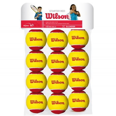 كور تنس Wilson Starter Red 12 ball pack